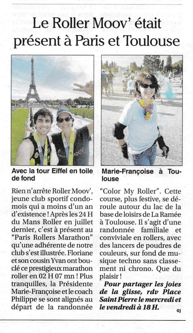 Le Roller Moov' était présent à Paris et Toulouse
