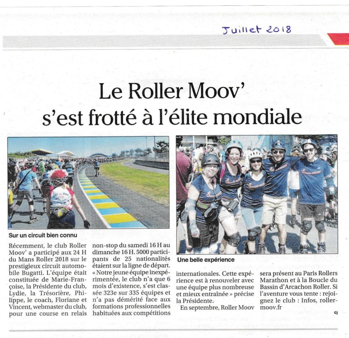 Le Roller Moov' s'est frotté à l'élite mondiale